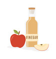vinegar bottle isolated vector image