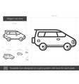 wagon car line icon vector image vector image