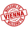 welcome to vienna vector image vector image