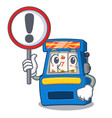 with sign slot machine in mascot shape vector image