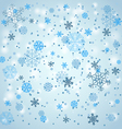Snowfall in winter vector image