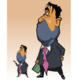 cartoon man in a suit with a folder in his hand vector image