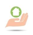 environment friendly concept house vector image