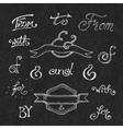 Handwritten catchwords and ampersands vector image