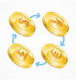 money currency exchange concept vector image