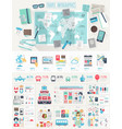 Travel Infographic set vector image