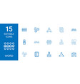 15 word icons vector image vector image