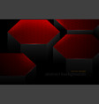 abstract red hexagonal shapes scene vector image vector image