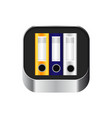 archive of folders icon vector image