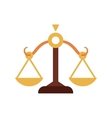 Balance icon Law and justice design vector image vector image