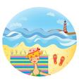 beach girl illustration vector image vector image