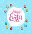big holiday card egg vector image vector image