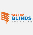 blinds logo vector image
