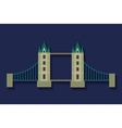 bridge london england design vector image vector image