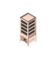 building private property real estate isometric vector image vector image