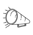 bullhorn icon doodle hand drawn or outline icon vector image