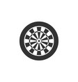 classic darts board with twenty black and white vector image vector image