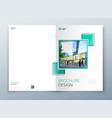cover brochure template design dark blue vector image vector image