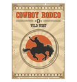 Cowboy horse rodeo posterWestern vintage with text