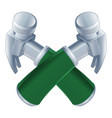 crossed hammers icon vector image vector image