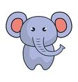 cute elephant animal kawaii style vector image