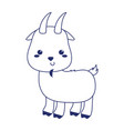 cute little goat animal cartoon isolated icon vector image