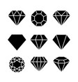 diamond gem icon crystal value outline vector image