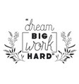 dreams message with hand made font vector image vector image