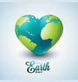 earth day with planet in heart vector image