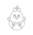 easter chicken egg outline vector image vector image