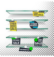 empty supermarket shelves cyber monday sale vector image vector image