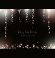 falling shimmer particles light and blurry sparks vector image vector image