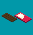 flat chocolate isolated on color background vector image vector image