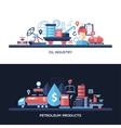 Flat design oil and gas industry website headers vector image vector image