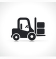 forklift icon isolated design vector image