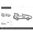 formula one car line icon vector image vector image