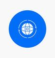 globe world earth atom connect vector image