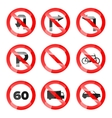 Glossy Road Signs set 02 vector image