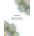 Green brown page corner design template vector image vector image