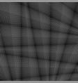 grey striped pattern wavy ribbons on dark vector image vector image