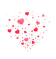 heart confetti burst isolated vector image