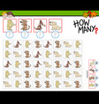 how many dogs counting task vector image vector image