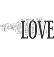 its ok to love text background word cloud concept vector image vector image