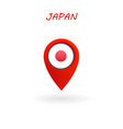 location icon for japan flag eps file vector image