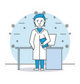 medical research man vector image vector image