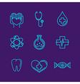 medicine logos vector image vector image