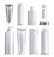 mens cosmetics bottles realistic icon set vector image vector image