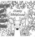 merry christmas deer greeting card vector image vector image