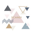 modern abstract triangle banner in scandinavian vector image