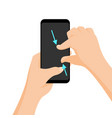 multi-touch gesture for tablets and vector image vector image
